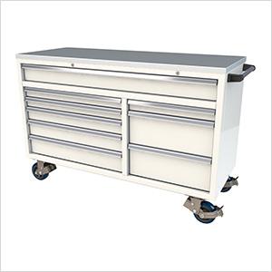 9-Drawer White Aluminum Tool Cabinet