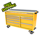 Moduline 9-Drawer Yellow Aluminum Tool Cabinet