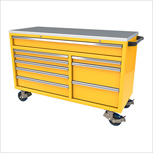 9-Drawer Yellow Aluminum Tool Cabinet