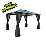 Paragon Outdoor 10 x 13 ft. Bermuda Hard-Top Gazebo with Mosquito Netting