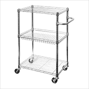 3-Tier UltraZinc Utility Cart