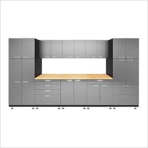 9-Piece Stainless Steel Garage Cabinet System