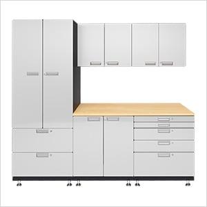 6-Piece Powder Coated Garage Cabinet System