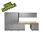 Hercke 9-Piece Stainless Steel Garage Cabinet System
