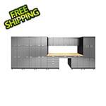 Hercke 11-Piece Stainless Steel Garage Cabinet System