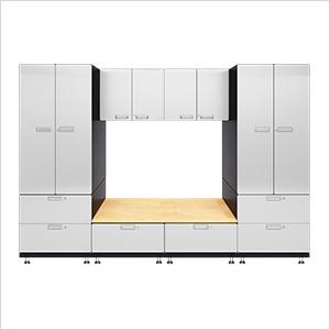 7-Piece Powder Coated Garage Cabinet System