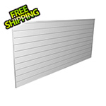 Proslat 8' x 4' PVC Wall Panels and Trims (White)