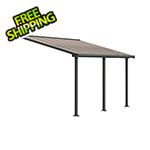 Palram Olympia 10' X 14' Patio Cover (Grey / Bronze)