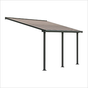 Olympia 10' X 14' Patio Cover (Grey / Bronze)