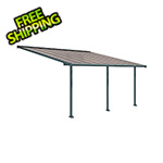 Palram Olympia 10' X 18' Patio Cover (Grey / Bronze)