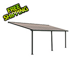 Palram Olympia 10' X 24' Patio Cover (Grey / Bronze)
