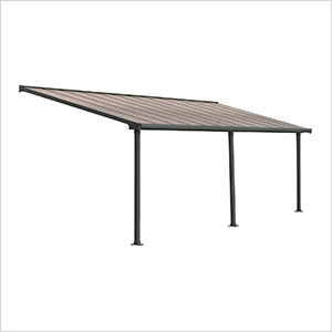 Olympia 10' X 24' Patio Cover (Grey / Bronze)