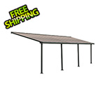 Palram Olympia 10' X 28' Patio Cover (Grey / Bronze)