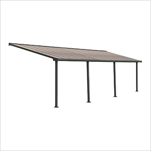 Olympia 10' X 30' Patio Cover (Grey / Bronze)