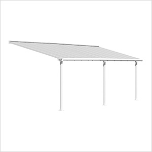 Olympia 10' X 24' Patio Cover (White)