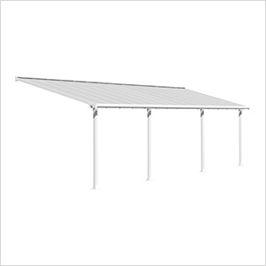 Olympia 10' X 28' Patio Cover (White)