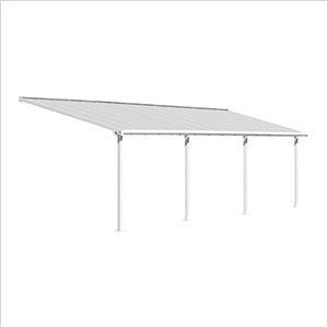 Olympia 10' X 30' Patio Cover (White)