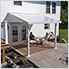 Gala 10' X 10' Patio Cover (White)
