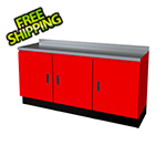 Moduline Select Series 3-Piece Aluminum Garage Cabinet Set (Red)