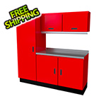 Moduline Select Series 6-Piece Aluminum Garage Cabinet Set (Red)