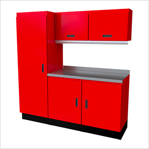 Select Series 6-Piece Aluminum Garage Cabinet Set (Red)