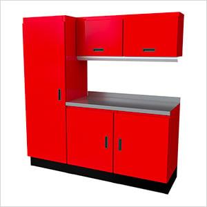 Select Series 6-Piece Aluminum Garage Cabinet Set (Red)