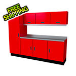 Moduline Select Series 8-Piece Aluminum Garage Cabinet Set (Red)