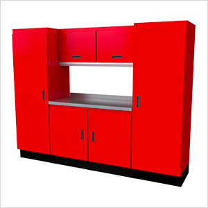 Select Series 7-Piece Aluminum Garage Cabinet Set (Red)