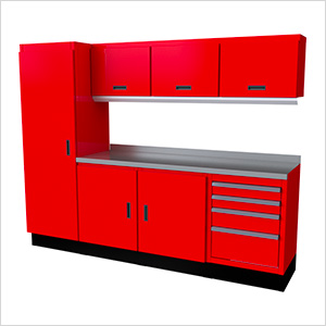 Select Series 8-Piece Aluminum Garage Cabinet Set (Red)