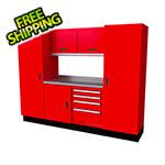 Moduline Select Series 7-Piece Aluminum Garage Cabinet Set (Red)