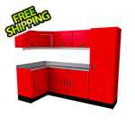 Moduline Select Series 10-Piece Aluminum Garage Cabinet Set (Red)