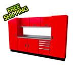 Moduline Select Series 9-Piece Aluminum Garage Cabinet Set (Red)