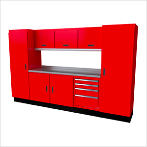 Select Series 9-Piece Aluminum Garage Cabinet Set (Red)
