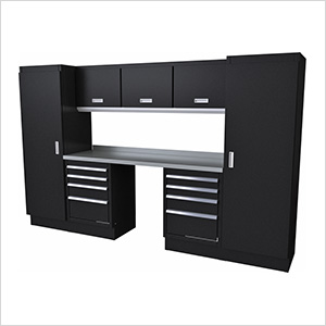 Select Series 9-Piece Aluminum Garage Cabinet Set (Black)
