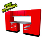 Moduline Select Series 9-Piece Aluminum Garage Cabinet Set (Red)