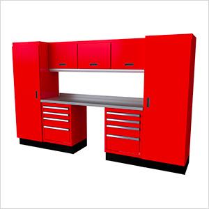 Select Series 9-Piece Aluminum Garage Cabinet Set (Red)