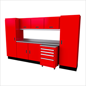 Select Series 10-Piece Aluminum Garage Cabinet Set (Red)