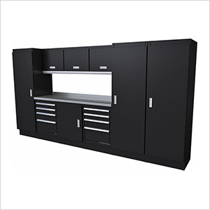 Select Series 10-Piece Aluminum Garage Cabinet Set (Black)