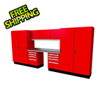 Moduline Select Series 11-Piece Aluminum Garage Cabinet Set (Red)