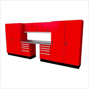 Select Series 11-Piece Aluminum Garage Cabinet Set (Red)