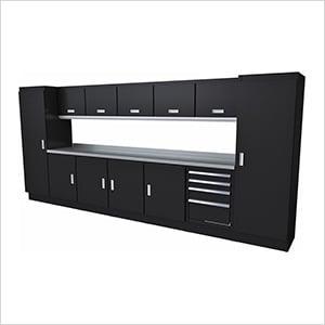 Select Series 13-Piece Aluminum Garage Cabinet Set (Black)