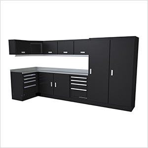 Select Series 14-Piece Aluminum Garage Cabinet Set (Black)
