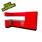 Moduline Select Series 14-Piece Aluminum Garage Cabinet Set (Red)