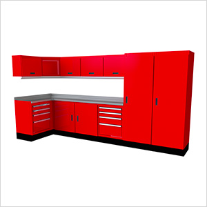 Select Series 14-Piece Aluminum Garage Cabinet Set (Red)