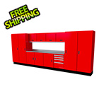 Moduline Select Series 13-Piece Aluminum Garage Cabinet Set (Red)