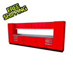 Moduline Select Series 15-Piece Aluminum Garage Cabinet Set (Red)