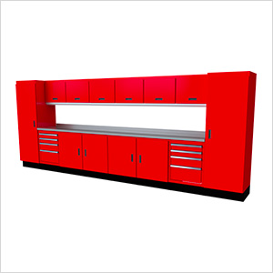 Select Series 15-Piece Aluminum Garage Cabinet Set (Red)