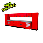 Moduline Select Series 16-Piece Aluminum Garage Cabinet Set (Red)
