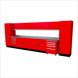 Select Series 16-Piece Aluminum Garage Cabinet Set (Red)