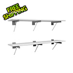Proslat 48-Inch White Shelf (2-Pack)